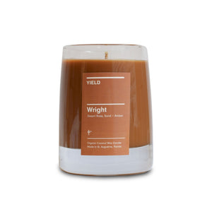 """Wright"" 8 oz. Organic Coconut Wax Candle in Glass"