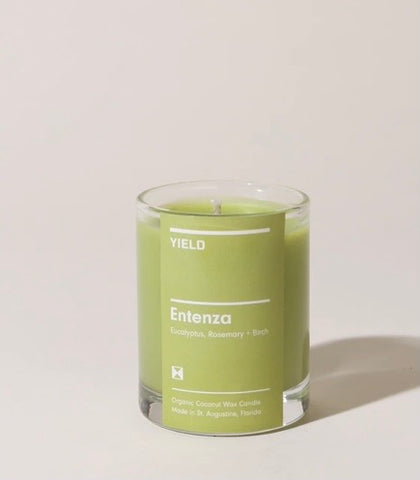 """Entenza"" Organic Coconut Wax Votive Candle in Glass"