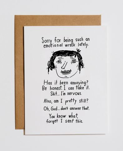 """Emotional Wreck"" Greeting Card"