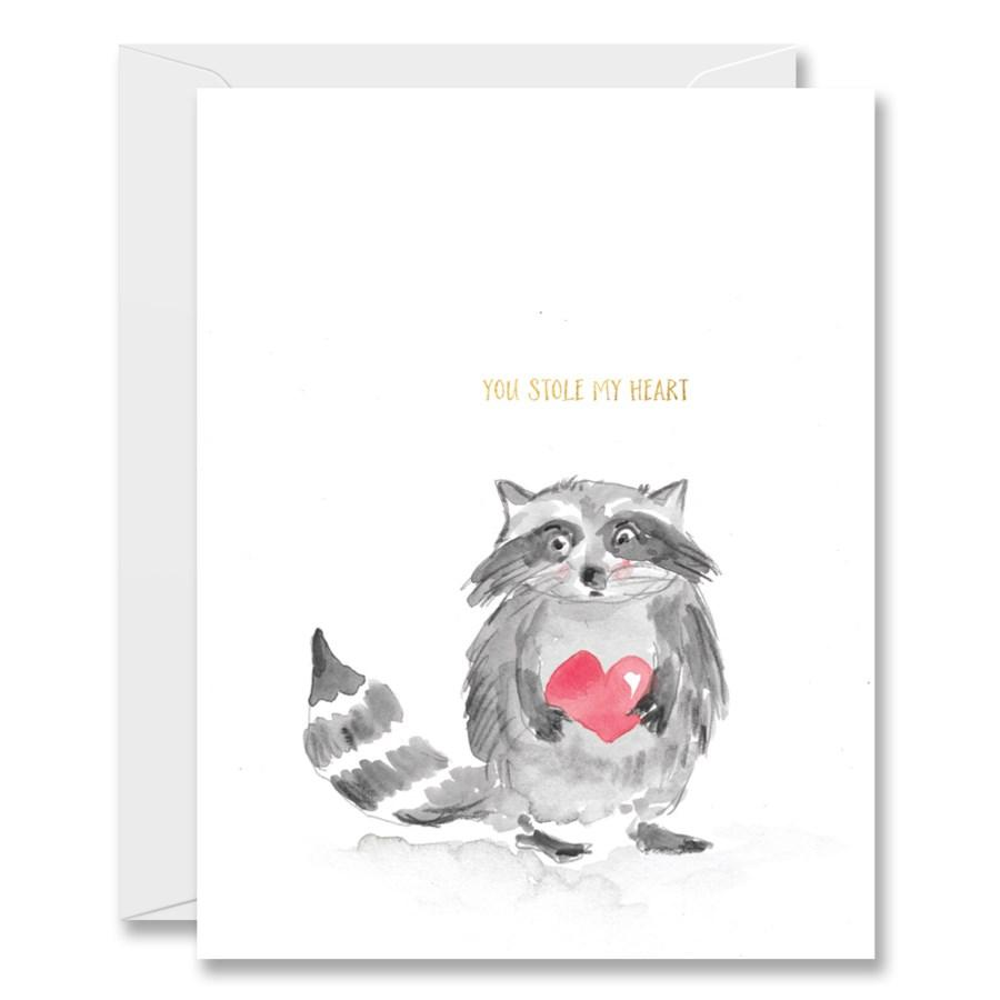 """Stole My Heart"" Note Card"