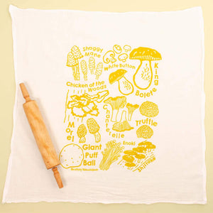 """Mushrooms"" Flour Sack Dish Towel"