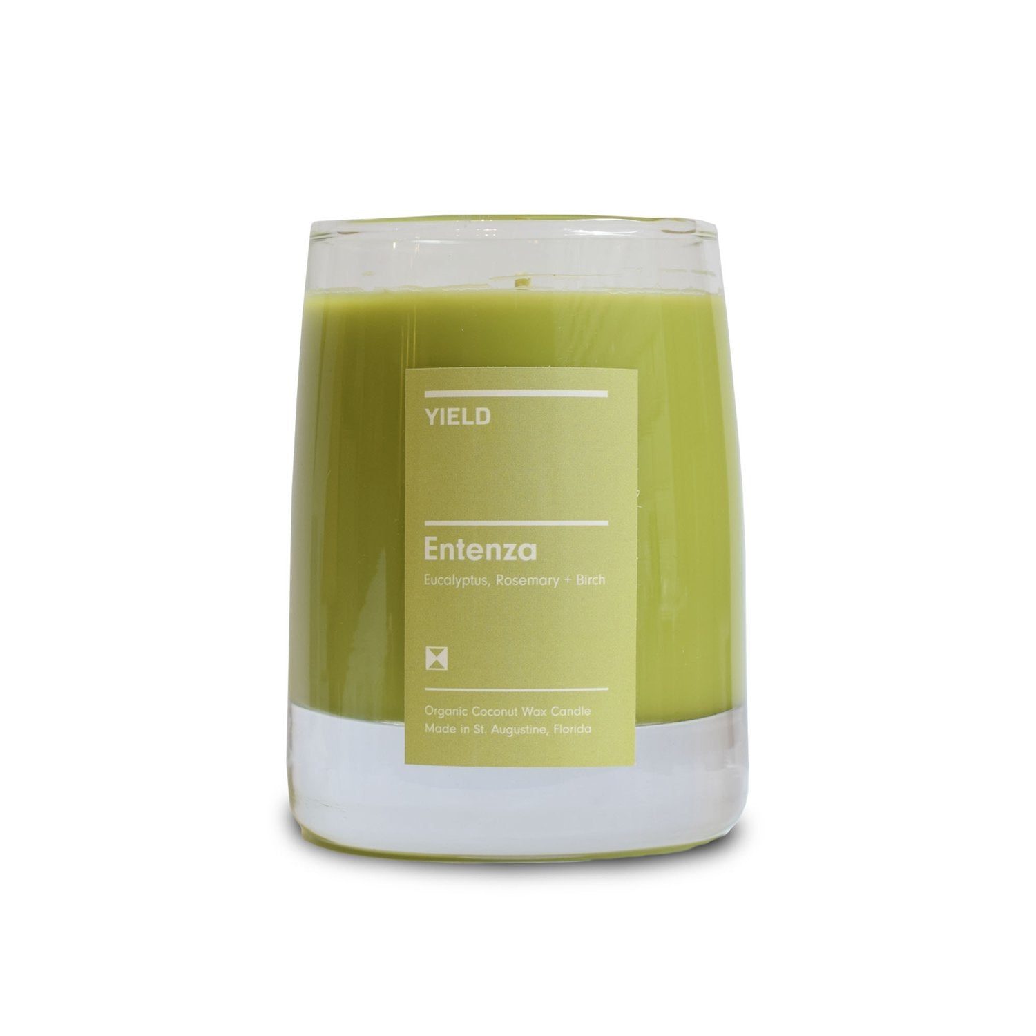 """Entenza"" 8oz. Organic Coconut Wax Candle in Glass"