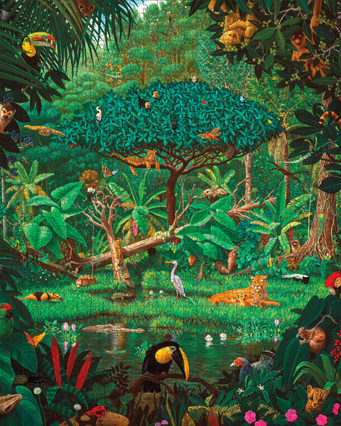Charles Lynn Bragg: Secrets of the Rainforest 1,000 piece jigsaw puzzle