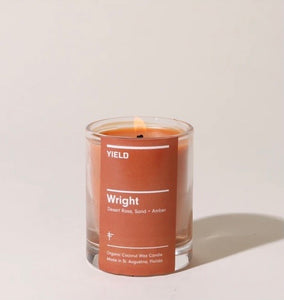 """Wright"" Organic Coconut Wax Votive Candle in Glass"