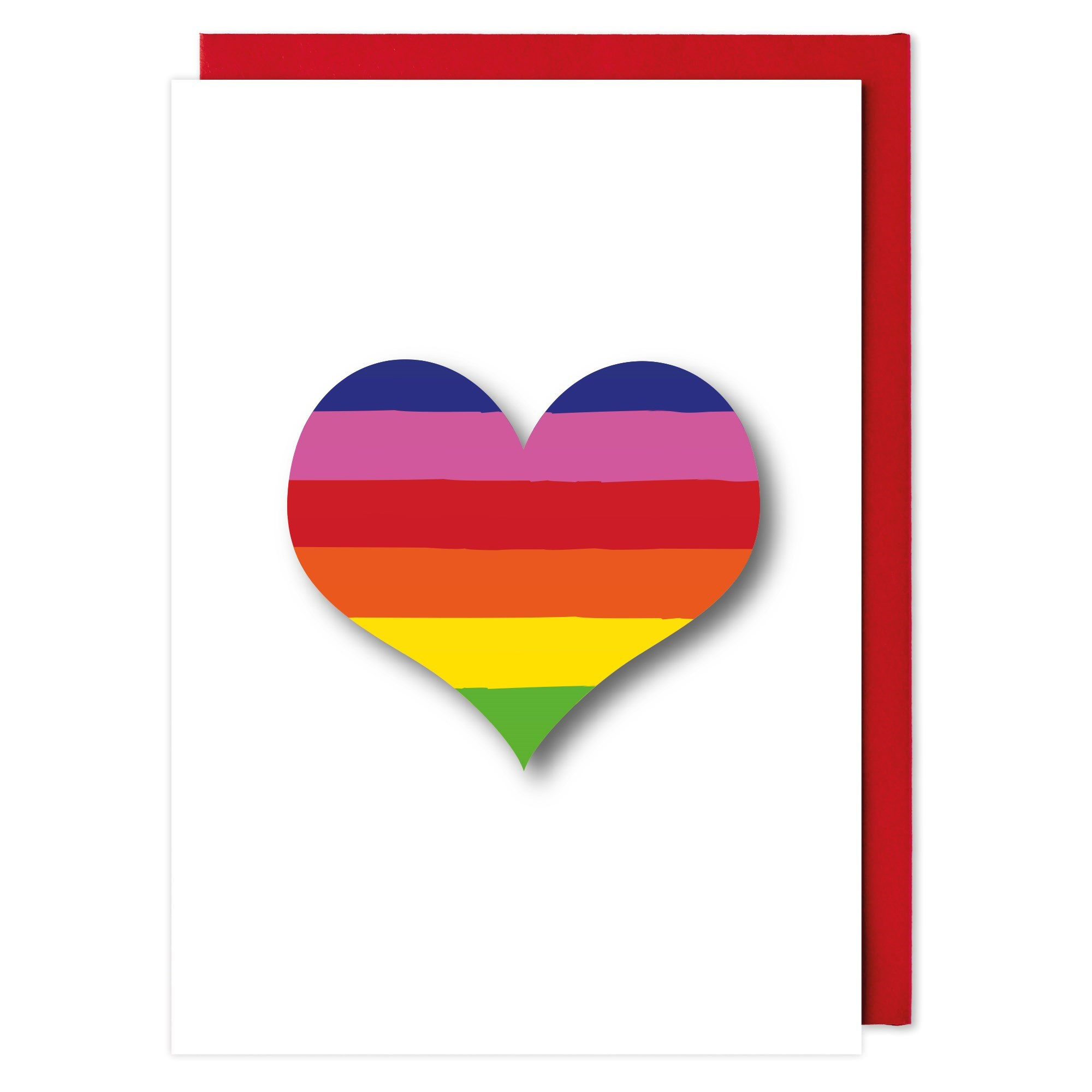 """Rainbow Heart"" Note Card"