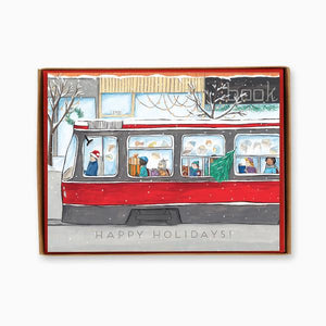 """Toronto: Streetcar"" box of 8 holiday cards"