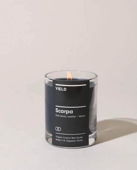 """Scarpa"" Organic Coconut Wax Votive Candle in Glass"