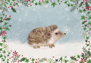 """Happy Hedgehog"" Boxed Holiday Cards"
