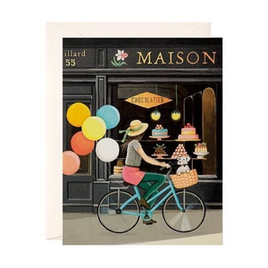 """Balloons, Bike and Bon Bons"" Note Card"