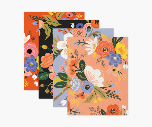 """Lively Floral"" Set of Assorted Note Cards"