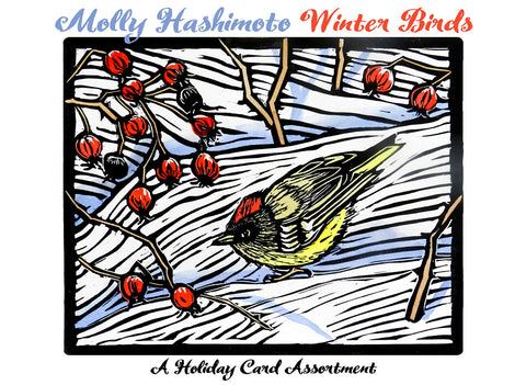 "Molly Hashimoto: ""Winter Birds"" Box of Assorted Holiday Cards"