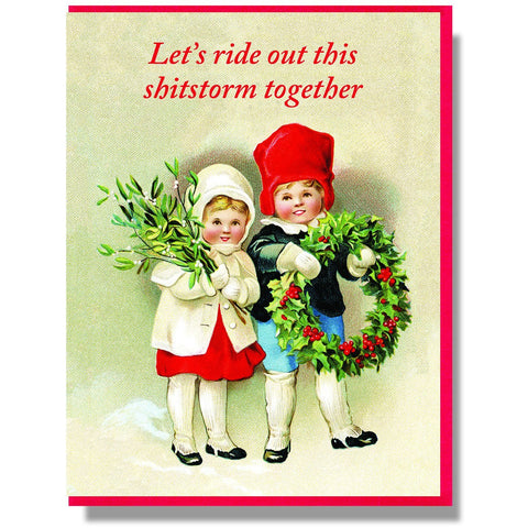 "Smitten Kitten: ""Let's ride out this shitstorm together"" Boxed Holiday Cards"