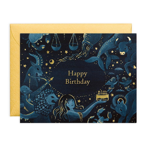 """Zodiac Happy Birthday"" Birthday Card"