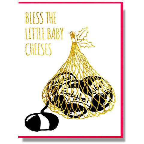 "Smitten Kitten: ""Bless the Little Baby Cheeses"" Boxed Holiday Cards"