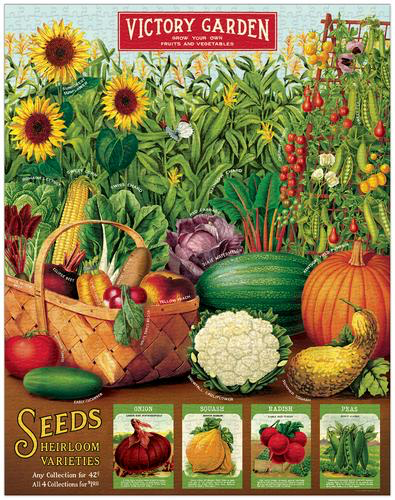 Vintage Jigsaw Puzzle: Victory Garden