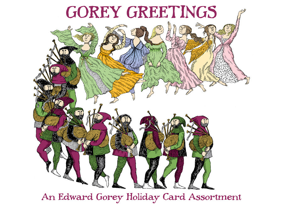 "Edward Gorey: ""Gorey Greetings"" Boxed Holiday Card Assortment"