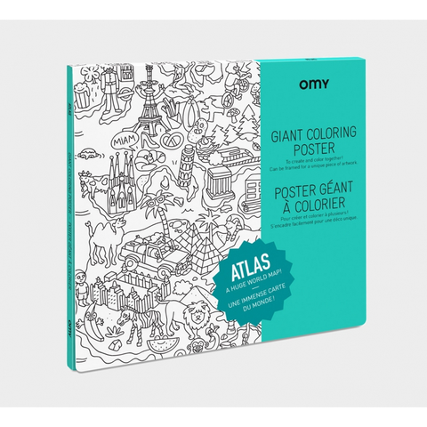 Giant Colouring Poster: Atlas