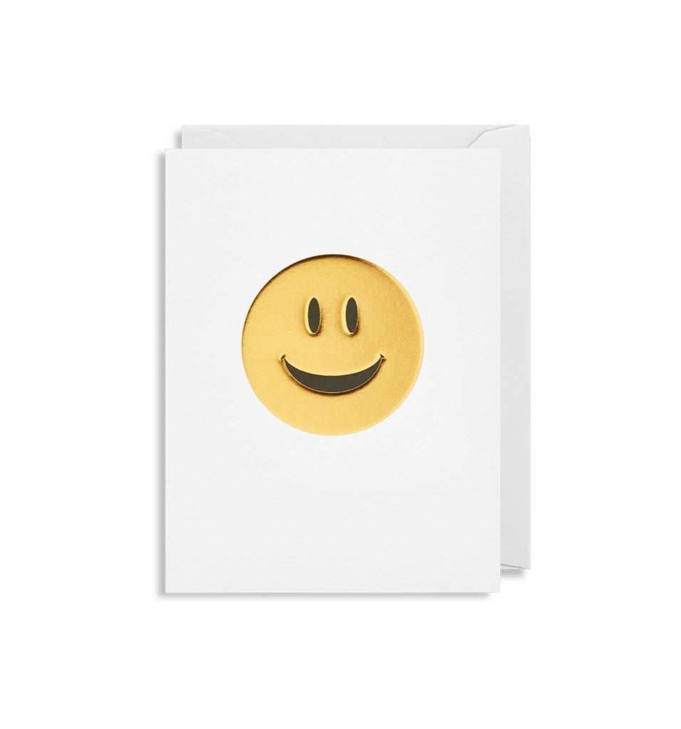 """Gold Smiley"" Note Card"