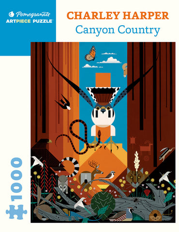 Charley Harper: Canyon Country 1,000 piece jigsaw puzzle