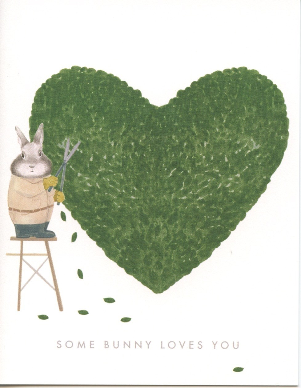 """Some Bunny Loves You""  Note Card"