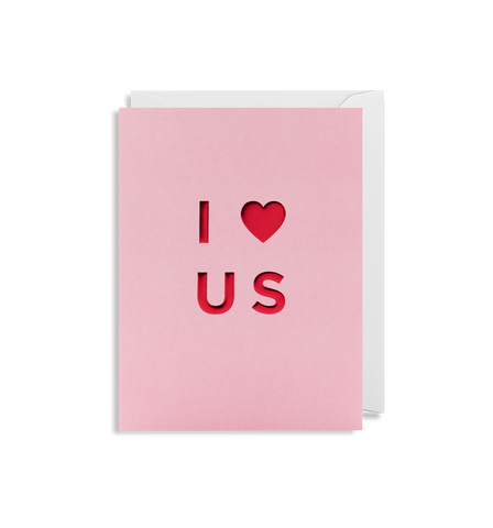 I Heart Us Mini Card