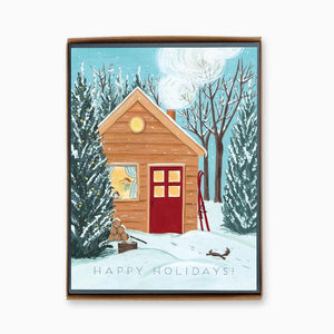 """Holiday Cottage"" box of 8 holiday cards"
