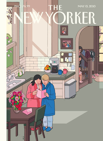 """Mother's Day Morning"" New Yorker Cover Mother's Day Card"
