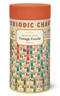 Vintage Jigsaw Puzzle: Periodic Chart