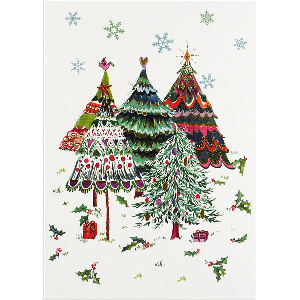 """Merry Evergreens"" Boxed Holiday Cards"