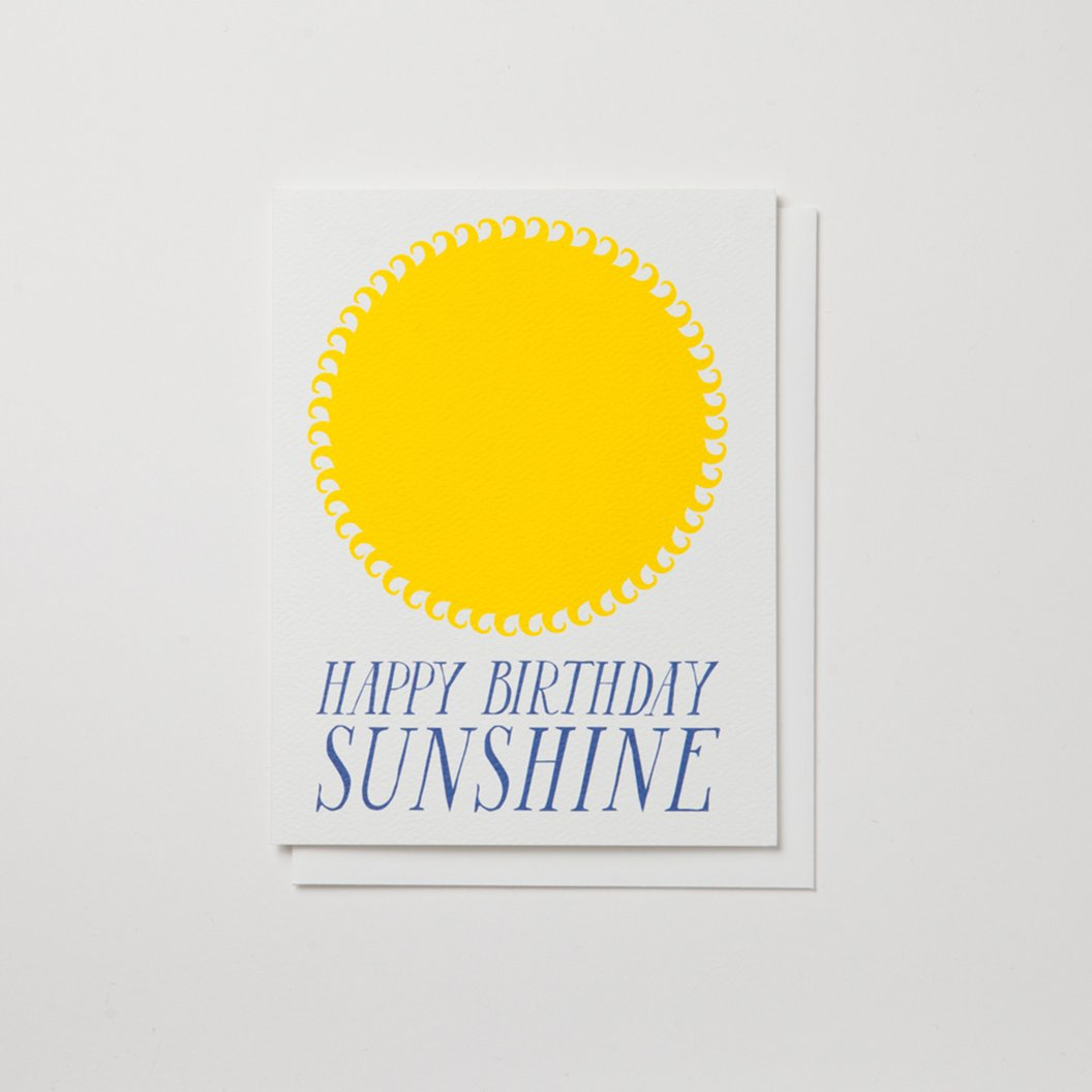 """Happy Birthday Sunshine"" Birthday Card"