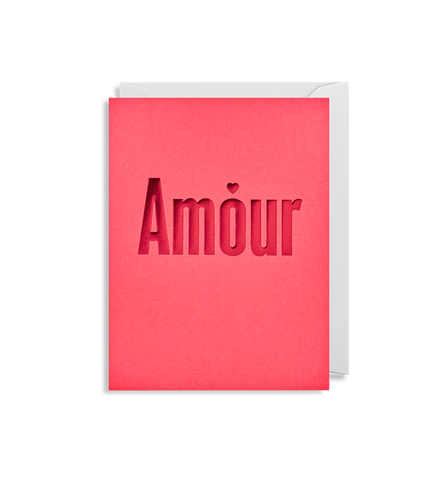 """Amour"" Mini Card"