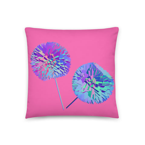 ilithya Dandelion-Dahlia Throw Pillow