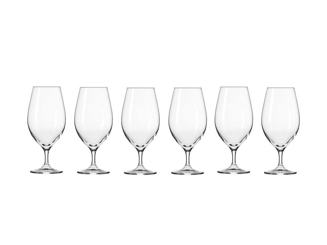 KROSNO HARMONY BEER GLASS SET OF 6