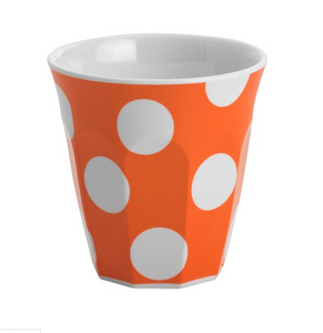 JAB POLKA DOT MELAMINE TUMBLER ORANGE