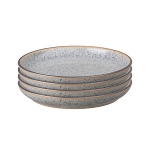 DENBY STUDIO GREY MEDIUM PLATE GREY 21CM SET OF 4
