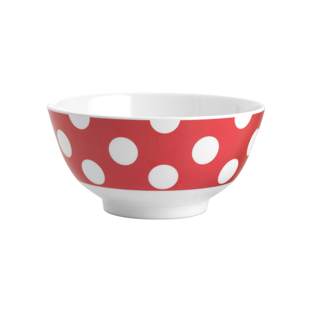 JAB POLKA DOT MELAMINE CEREAL BOWL RED