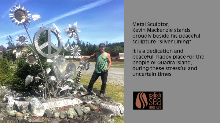 Kevin Mackenzie has created a really big sculpture for the people of Quadra Island