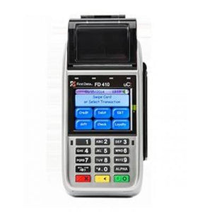 First Data FD-410 3G Wireless DW EMV CTLS Credit Card Terminal
