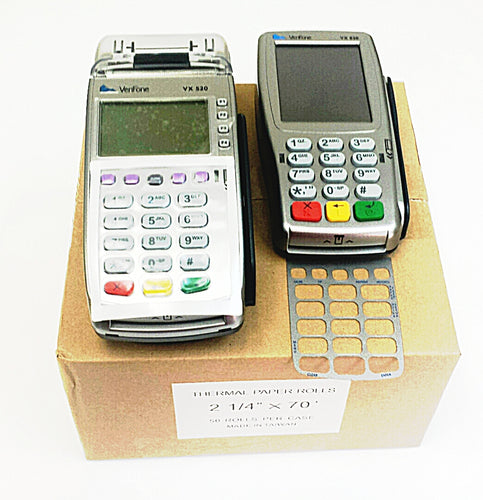 Verifone Vx520 EMV Credit Card Terminal and Vx805 Pin Pad Bundle - DCCSUPPLY.COM