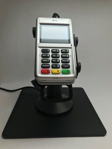 First Data RP10 Low Profile Swivel and Tilt Freestanding Metal Stand with Square Plate - DCCSUPPLY.COM