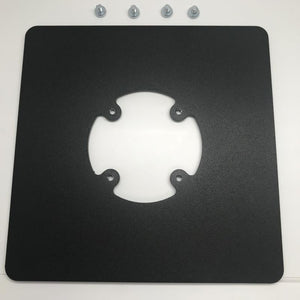 Freestanding Square Base Plate - Black