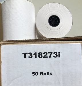 "3 1/8"" x 273' Thermal Paper (50 Roll Case)"