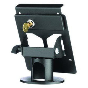 "Pax PX5 Terminal Locking Stand, Round 2"" high base, secured L Bracket - DCCSUPPLY.COM"