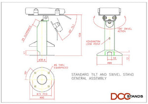 First Data FD130/FD150 Low Profile Swivel and Tilt Freestanding Metal Stand with Square Plate - DCCSUPPLY.COM