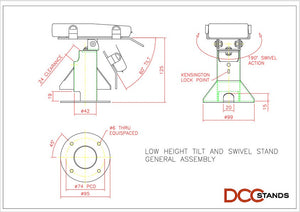 First Data FD150 Low Profile Swivel and Tilt Metal Stand - DCCSUPPLY.COM