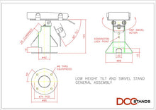 Load image into Gallery viewer, Clover Flex Low Profile Freestanding Swivel Stand with Round Plate - DCCSUPPLY.COM