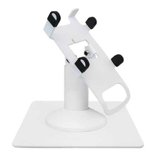 Dejavoo Z3/Z6 Low Profile White Swivel and Tilt Freestanding Metal Stand with Square Plate - DCCSUPPLY.COM