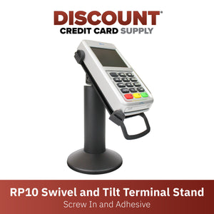First Data RP10 PIN Pad Swivel and Tilt Metal Stand