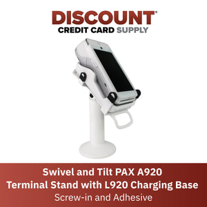 PAX A920 Swivel Stand with L920 Charging Base