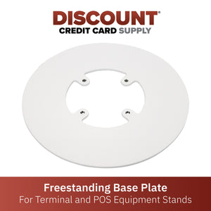 Freestanding Round Base Plate - White - DCCSUPPLY.COM